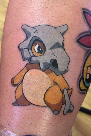 Cubone new school tattoo.