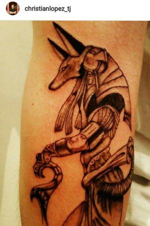 #Anubistattoo #egipciantattoo #tattoo #blackandgrey #tijuana #dinamicink