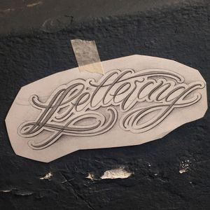 """Daily sketch - """" lettering """""""