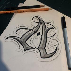 """Daily sketch - """" A """""""