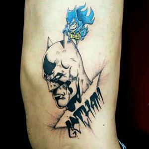 #batman #gothamcity #gotham #batmantattoo #bataran #mini #batman #blackwork