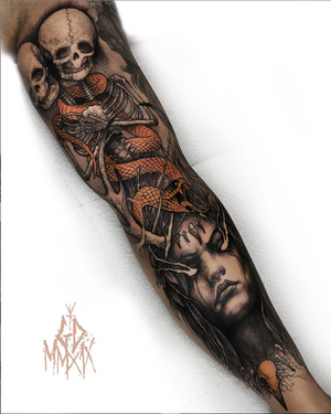 Made some progress on Xabi's sleeve. Thanks for watching!🖤
