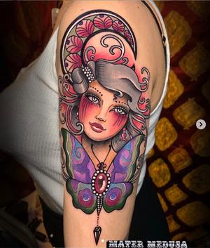 ✨Day 2️⃣ at the @londontattooconvention thank you to my beautiful and super funny client @mirtilla4 for letting me do this piece💜💜💜 I had such a pleasant time 💋 #londontattooconvention #claudiaducalia #tattoodoambassador #tattoodo #tattoooftheday #tattoolife #tattooedgirls #tattooedchicks #artnouveautattoo #butterflytattoo #moontattoo #matermedusa #pendulumtattoo #thebesttattooartists