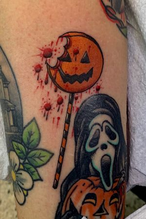 Bloody bitten sams lollipop from trick r treat awesome tattoo for Halloween