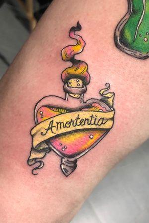 Amortentia Potion Bottle Tattoo #amortentia #amortentiapotion #potion #potionbottle #harrypotter #harrypotter tattoo