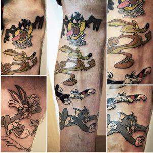 Finally some color on this looney stuff 💜🧡💛💚💙#looneytoonstattoo #cartoonetwork #looneytunes #cartoontattoo #practice #learning #learningtotattoo #everythingpossible #tattoos #tattoolifestyle #tattoonewbie #ink #inked #inkedgirls #daretochange #daretobedifferent #workingheroes #beginnertattooartist #tattooedgirls #tattooworkers #inkstagram #tattoosession #tattoodo #myinkprints2019