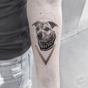 Small Fineline/ Black&Grey Dogportrait. Size: ~15cm