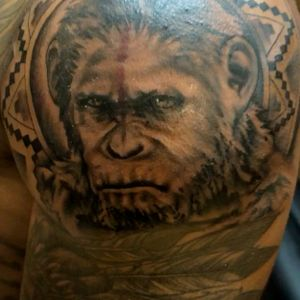 Caesar (planet of the apes) tattoo
