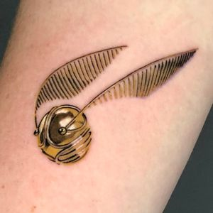 Golden Snitch #harrypotter #realism #color #colorrealism #indianapolis #cronetattoos #joecrone
