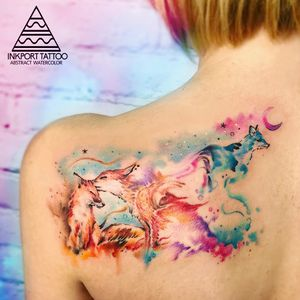 Howling wolf by @inkporttattoo                                                                        #Москва #foxes #fox #moscowtattoo  #space #tattooartist #акварельтату #moscow #watercolor #usa  #tattoomoscow #tattoo #татуировка #watercolortattoo inkporttattoo #inkporttattoo  #msk #татумастер  #dotworktattoo #тату #watercolortattoos #abstract #abstracttattoo #europe