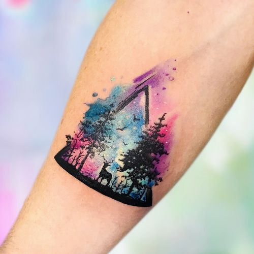 Howling wolf by @inkporttattoo                                                                        #Москва #forest #deer #moscowtattoo  #space #tattooartist #акварельтату #moscow #watercolor #usa  #tattoomoscow #tattoo #татуировка #watercolortattoo inkporttattoo #inkporttattoo  #msk #татумастер  #dotworktattoo #тату #watercolortattoos #abstract #abstracttattoo #europe