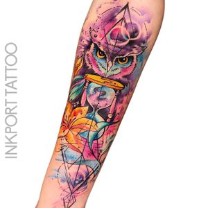 Time is valuable by @inkporttattoo #Москва #owltattoo #owl #watercolor #moscowtattoo #space #акварельтату #moscow #watercolor #usa #tattoomoscow #татуировка #watercolortattoo #inkporttattoo #watercolortattoos #abstract