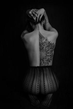 Sacred geometry mandala #mandala #mandalatattoo #backpiece #tattooartist