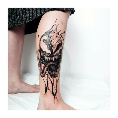 Tattoo artist Yablokova Ira, Kyiv Instagram/FB: YablokovaTattoo #venom #MarvelTattoos #MarvelTattoos #татумастеркиев #tattookiev #kievtattoo #yablokovatattoo #ukrainetattoo #tattooukraine #tattoo_culture_ua