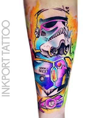 Stormtrooper - Star Wars  by @inkporttattoo                                                                        #Москва #starwars #starwarstattoo #stormtrooper  #watercolor #moscowtattoo  #space #акварельтату #moscow #watercolor #usa  #tattoomoscow  #татуировка #watercolortattoo #inkporttattoo #watercolortattoos #abstract