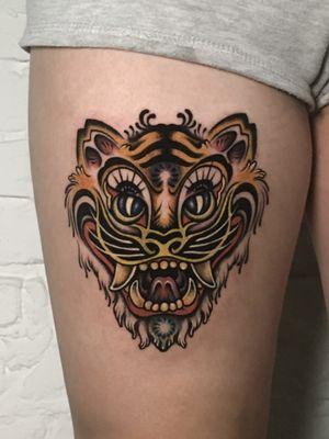 호랑이, Korean Tiger N.3 ; Done @sticksandstonesberlin ; Inquiry & booking 👉 DM or 📧 paixletattooer@gmail.com #wannado #tattoo #art #tattoodesign #tattooideas #berlintattoo #tattooberlin #berlintattooers #tattoodo #tttism #tattooartistmagazine #tattooed #inked #theartoftattooing #thinkbeforeuink #taot #traditionaltattoo #neotraditinal #neotraditionaltattoo #tattooworkers #neotradstyle #neotradsub #neotradworldwide #ntgallery @tattoodo #tigertattoo #masktattoo #heavymetaltattoo #colortattoo #타투 #刺青