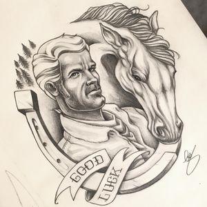 #cowboy #horse #lucky #drawing #pencildrawing