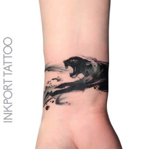 The black panther by @inkporttattoo                                                                        #Москва #blackpanther #planther #watercolor #moscowtattoo  #space #акварельтату #moscow #watercolor #usa  #tattoomoscow  #татуировка #watercolortattoo #inkporttattoo #watercolortattoos #abstract