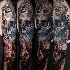 #skull #skulltattoo #angel #angeltattoo #blackandgrey #blackandgreytattoo