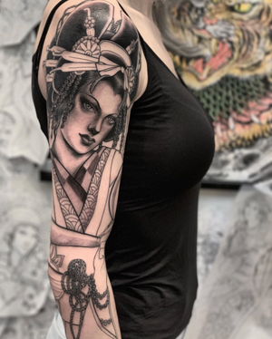 Another super fun session on Yang!! Thank you so much for giving so much freedom in this project and for sitting so well all the time!! My bookings are open for January 2020 and February 2020 at @seventhsontattoo SAN FRANCISCO!
