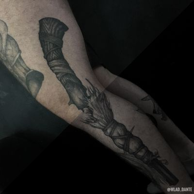 Healed. #gun #guntattoo #weapon #dotwork #darkart #darktattoo #darktattoos #horror #saintpetersburg #weapontattoo #healedtattoo