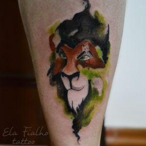 Scar #lionking #watercolor #scar #disney #aquarela
