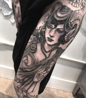 Thanks Cristina❤️!! Not the best picture I'll take one once is everything healed! Last session on this badass lady,I'm going to miss our afternoons chatting no stop (lol) ...