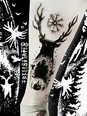 My lovely pagan style. This is the deer from my Dark forest. And now it is alive
