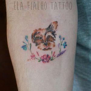 Dog portrait #dogtattoo #tattoocachorro #tinytattoo #tattoodelicada