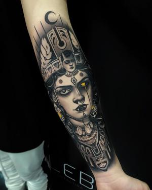 Done at @tattooweek São Paulo on @rianrl ———————————————————— @cheyenne_brasil