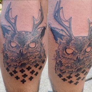 Blackwork Horned owl #owl #owltattoo #blackandgrey #blackandgreytattoo #blackwork #blackworktattoo #dotwork