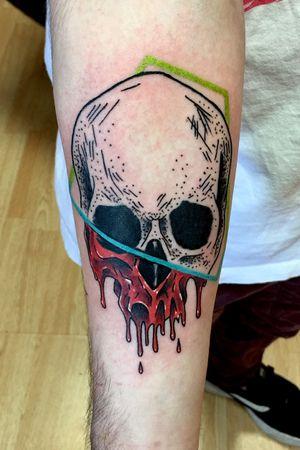 Dotwork/color skull