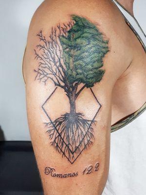 Tree of life #tree #treetattoo #naturetattoos #inked #eclectic #armtattoos #CostaRicaTattoo  #AndresTorresArt