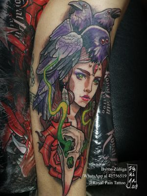 Neotradi crow #byronzuñiga #guatemala #crow #girl #flower