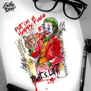 @guilleryan.arttattoo guilleryanarttattoo@gmail.com #jokermovie #joker #jokertattoos #batman #batmanandjoker #animetattoos #cartoontattoos  #tattooartmagazine  #watercolortattoo #geektattoos #frikitattoos