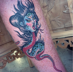 Thank you Thomas for getting this snakey lady! #melbournetattoos #tatsoul #tattoodo #tattoodoambassador
