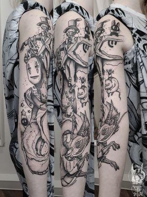 #kuro #kurotrash #tattoo #tattooing #tattoos #tattooed #tattooer #black #blackandwhite #blackwork #blackworkers #ink #inked #onlythedarkest #blackink #tattooart #tattooartist #vienna #wien #dots #japan #blackink #anime #studioghibli #tattooartist #tattoolife #miyazaki #manga #noface #ghiblitattoos #ghiblistudio #haku #japan #spiritedaway #calcifer