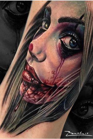 Happy Halloween #intenzepride #tattoounity #miamitattoos #instapic #instatattoo #tattooedgirls #tattooartist # tattoogirl #realistictattoo #tattooideas #artwork #fullcolortattoo #colortattoo #miamitattoos #305tattoos #floridatattoos #nortmiamitattoos