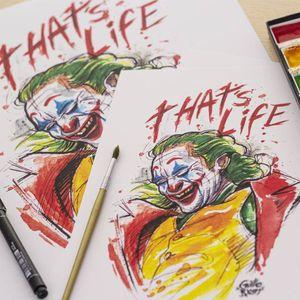 @guilleryan.arttattoo guilleryanarttattoo@gmail.com #prints #jokermovie #joker #jokertattoos #batman #batmanandjoker #animetattoos #cartoontattoos #tattooartmagazine #watercolortattoo #geektattoos #frikitattoos #gamer #sketchtattoo #watercolor