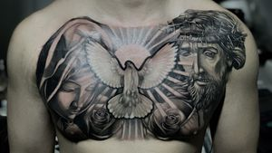 Religious chest piece