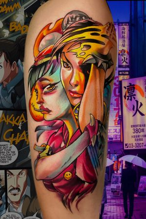 Collab that i made with Rober (Neoparker) #streetfighter #fight #streetfightertattoo #chunli