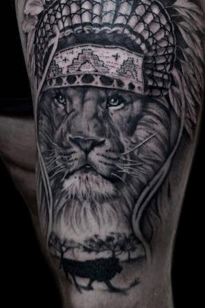 Lion thigh piece