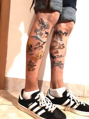 #looneytoonstattoo #cartoonetwork #looneytunes #taz #coyote #sylvester #tom #bugs #bunny #cartoontattoo #practice #learning #learningtotattoo #everythingpossible  #tattoos #tattoolifestyle  #tattoonewbie #ink #inked #inkedgirls #daretochange #daretobedifferent #workingheroes #beginnertattooartist #tattooedgirls #tattooworkers #inkstagram #tattoosession #tattoodo #myinkprints2019