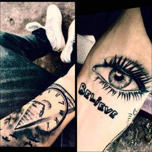 #tattooart #MyTattoos #mytattoocollection #believe #eyes #pyramidtattoo