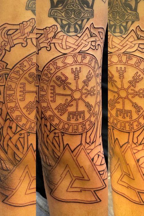 Outline of Viking themed knot sleeve  @peakneedles @empireinks @fkirons @hustlebutterdeluxe @ultimatetattoosupply  #tattoos #inked #tattooed #tattoolife #inkedup #inklife #TeamPeak #tattoodesign  #inkedlife #tattooist #inkaddict  #travelingartist #colortattoo  #tattooed #knoxville #knoxvilletattoo #knoxvilletattooer #peakneedles #quartzcartridges  #yckth #knoxtatts #xionstealth #mythicalcrew #tatted4life80 #inkdgeneration