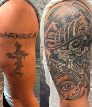 Before/after coverup firefighters tattoo @peakneedles @empireinks @fkirons @hustlebutterdeluxe @ultimatetattoosupply #tattoos #inked #tattooed #tattoolife #inkedup #inklife #TeamPeak #tattoodesign #inkedlife #tattooist #inkaddict #travelingartist #colortattoo #tattooed #knoxville #knoxvilletattoo #knoxvilletattooer #peakneedles #quartzcartridges #yckth #knoxtatts #xionstealth #mythicalcrew #tatted4life80 #inkdgeneration #firefightertattoo #coveruptattoo