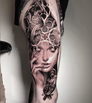 Work in progress . Started this in Vancouver at @grapevinetattoo . Done with @fkirons @worldfamousink @dermalizepro @tattoodo @bigsleepsink @lovelesstattoo