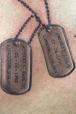 #dogtags #tribute #cremation #realism #ashes #cremation #blackandgrey