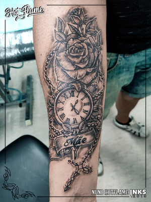 Roses, Clock and Rosary