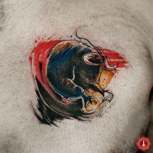 N°963 #tattoo #tattooed #ink #inked #bull #bulltattoo #paint #brushstroke #brushstroketattoo #abstract #bylazlodasilva 🏠 Made in @ensamble01 #somosensamble 🛠️ Made with @boycottproducts #boycottproducts @radiantcolorsink #radiantcolorsink @dynamiccolor #dynamicink #dynamiccolor @fkirons #fkirons #spektrahalo2 @eztattooing #ezcartridges